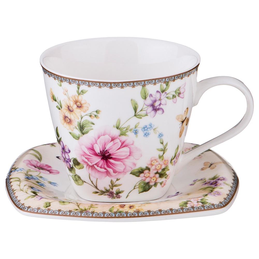 "Чайная пара Lefard ""Полевые цветы"", LF-165/426, 220 мл"