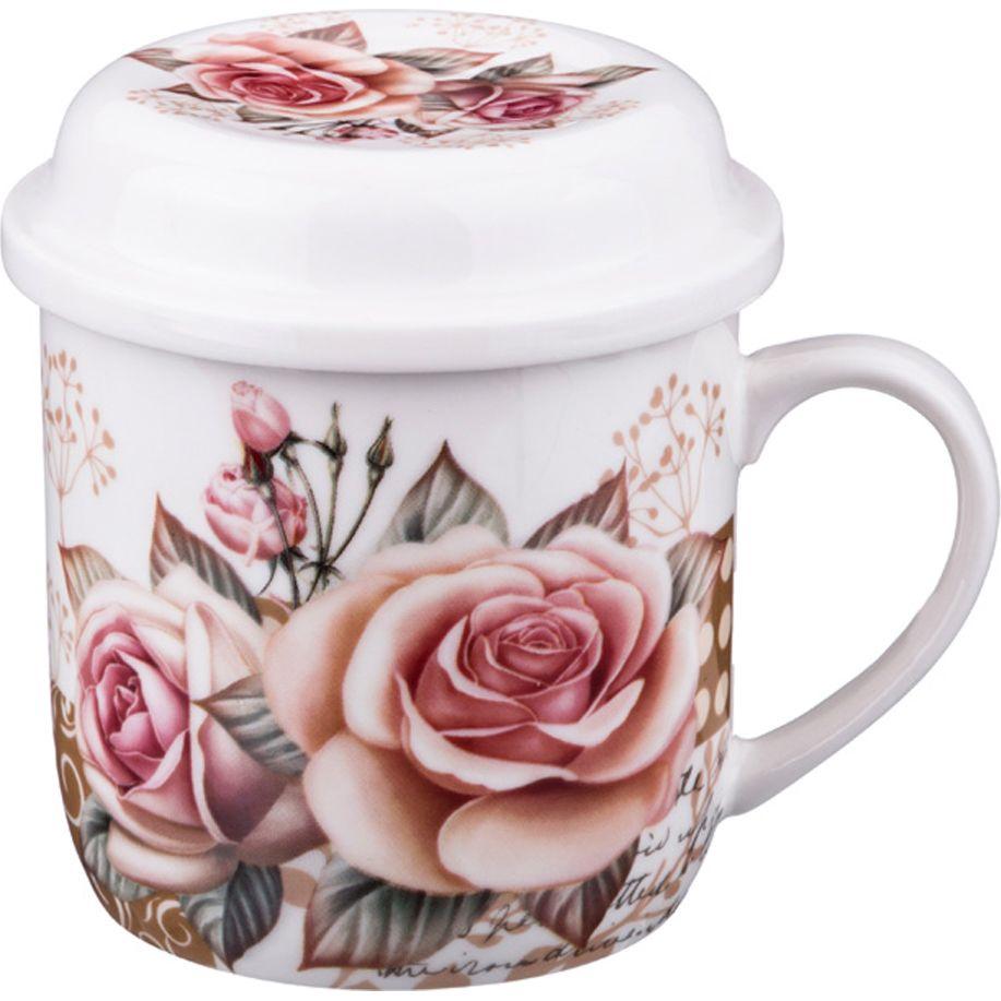 Кружка заварочная с ситом Садовая роза 300мл кружка заварочная rosenberg r 260028