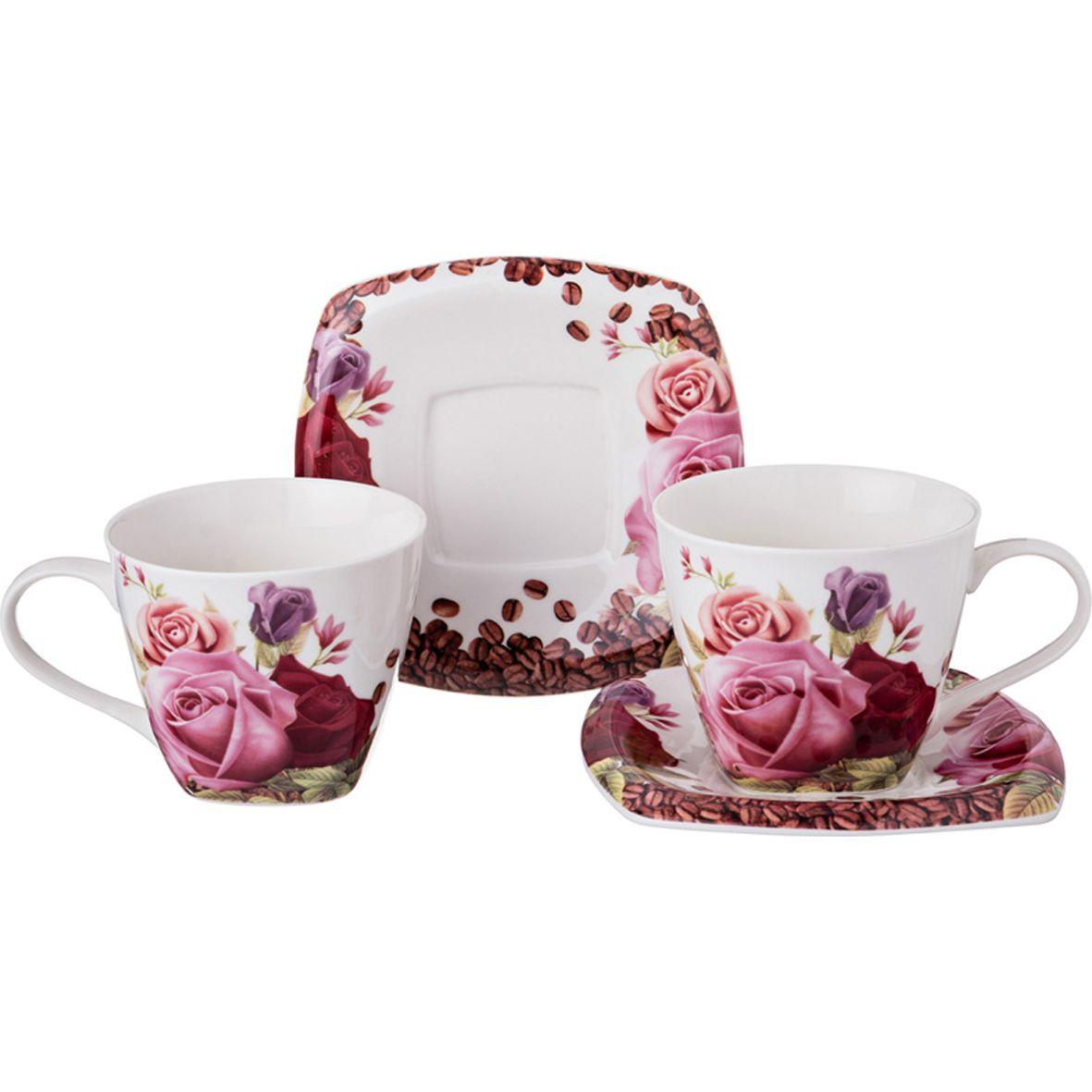 Набор чайный Lefard Садовая роза на 2 персоны, LF-165/389, 220 мл набор чайный на 2 персоны c622as622a l6 yg01 2 розовый 4 предмета