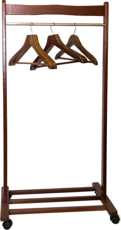 Вешалка напольная переносная Anyday Atlant, VATLm-2, коричневый
