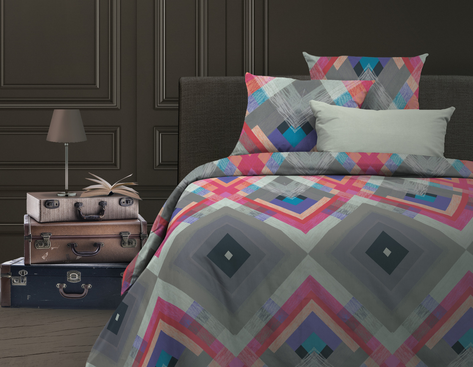 Комплект белья Wenge Avangard, 532687, 2-спальный, наволочки 70х70 постельное белье wenge кпб 2 0 био комфорт wenge 70х70 рис 15158 1 15161 2 gallant