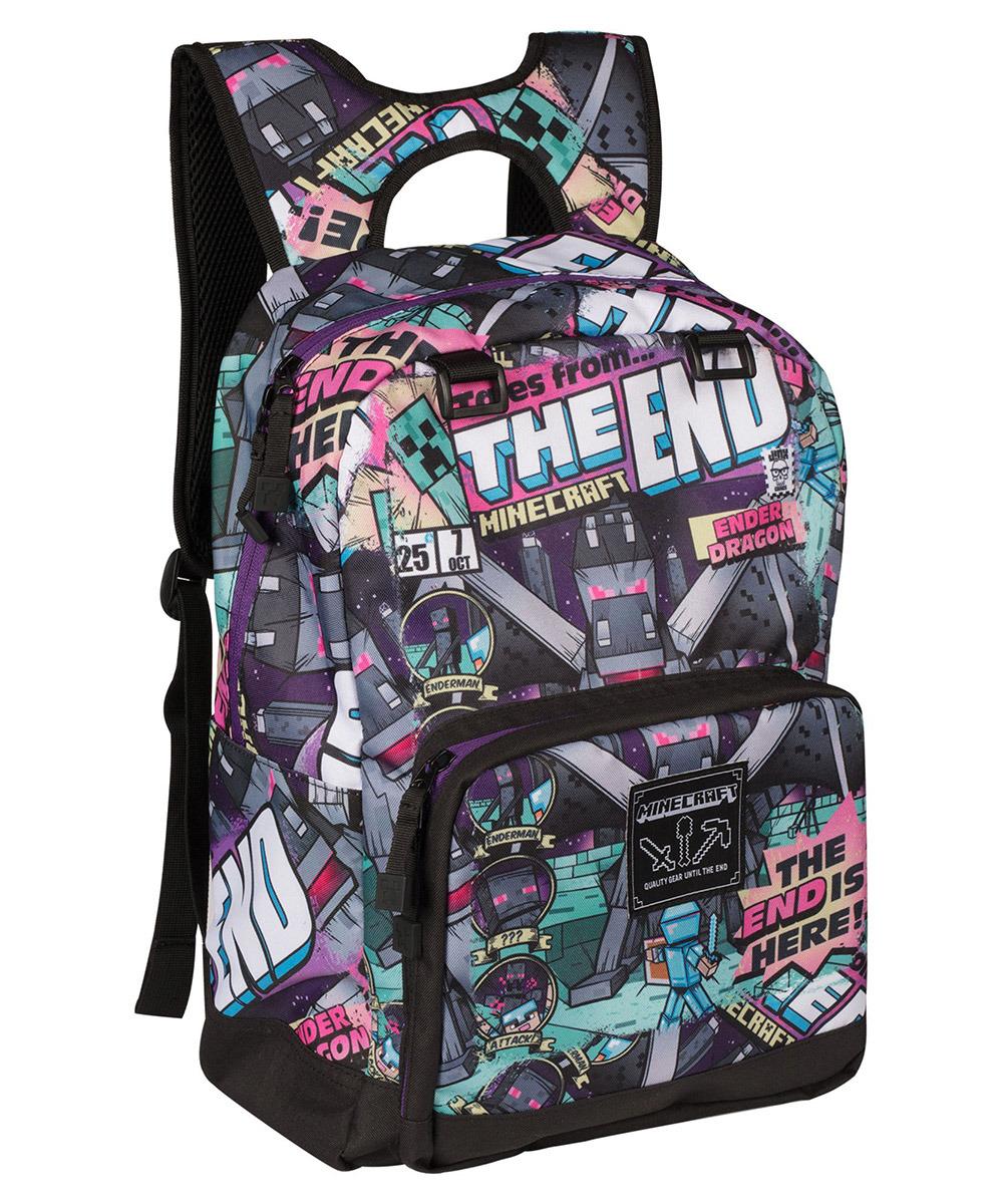 Рюкзак Minecraft Tales from the End, TM09413, разноцветный, 43 х 30 х 15 см рюкзак minecraft