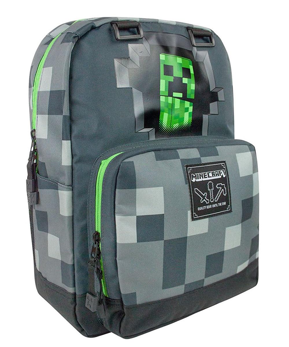 Рюкзак Minecraft Creepy Creeper, TM55773, серый, 43 х 30 х 12.5 см рюкзак minecraft