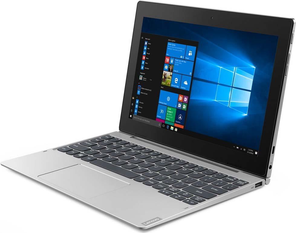 10.1 Планшет Lenovo IdeaPad D330-10IGM 128 GB, серебристый планшет full hd