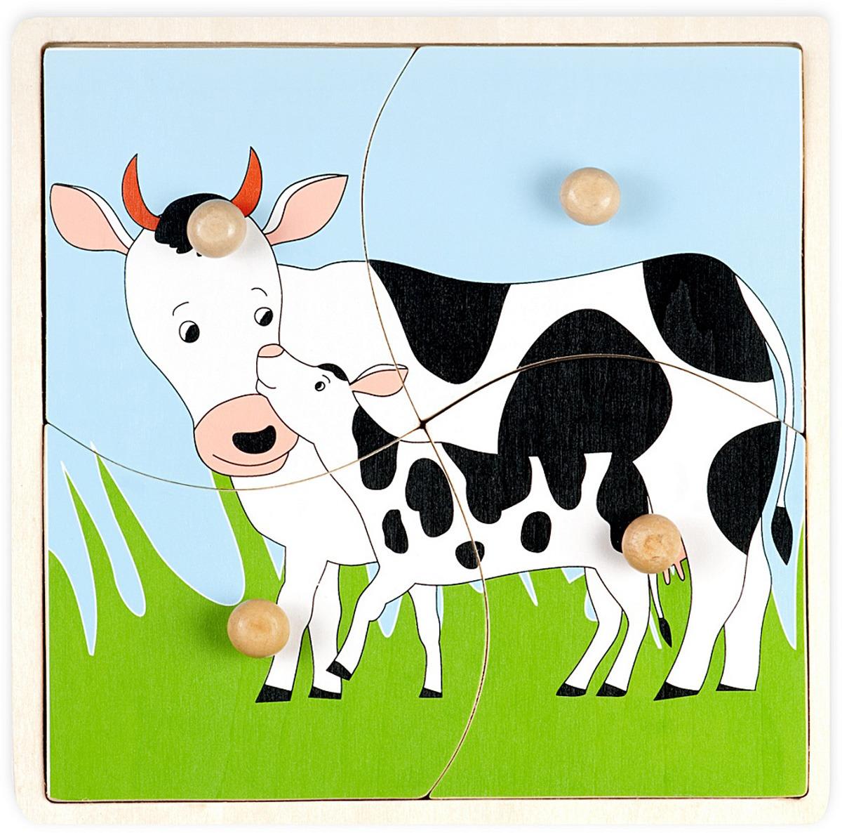 """Пазл для малышей Маленький Гений-Пресс """"Мать и дитя Корова ..."""