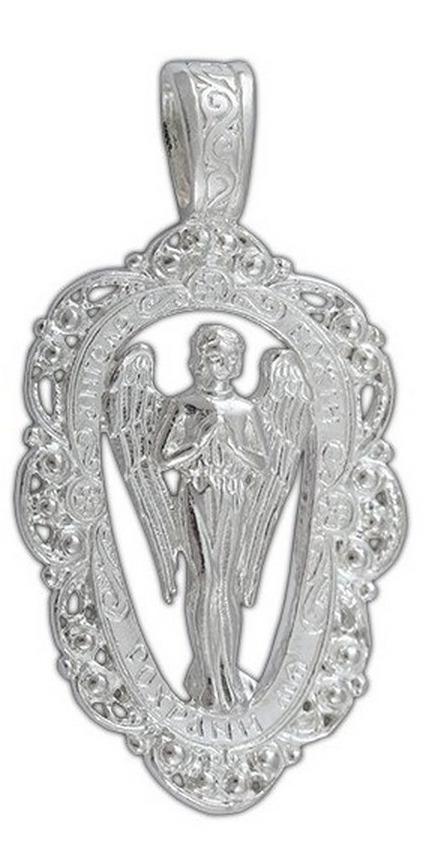 Подвеска Диамида, серебро 925, 5400-141СереброСеребряная Подвеска 925 пробы, Ангел Хранитель
