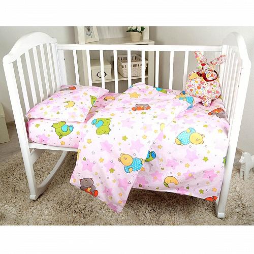 Комплект постельного белья Споки Ноки «Звездопад», C011/11RO, розовый, наволочка 40 х 60 см цена