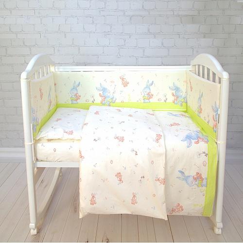 Комплект постельного белья Baby Nice «Зайчики», C121/14LG, разноцветный, наволочка 40 х 60 см комплект постельного белья детский baby nice луны звездочки цвет салатовый