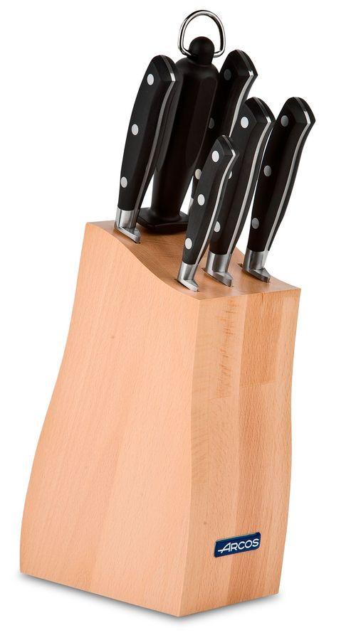 Набор кухонных ножей Arcos Rivera, на подставке, 2342, 7 предметов набор кухонных ножей 3 шт 7941 clasica серия clasica