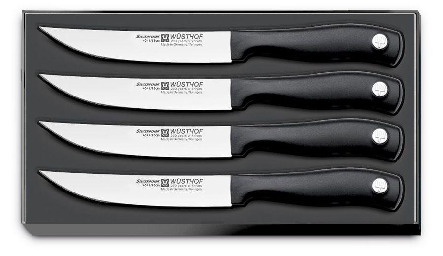 Набор ножей Wuesthof для стейка серия Silverpoint, 9634, 4 шт набор кухонных ножей 3 шт 7941 clasica серия clasica