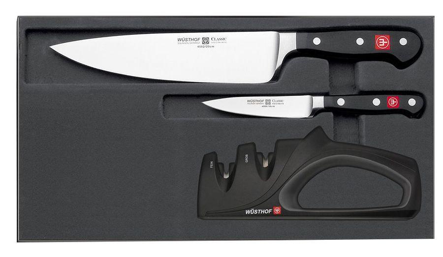 Набор кухонных ножей + точилка Wuesthof серия Classic, 9608-5, 2 шт