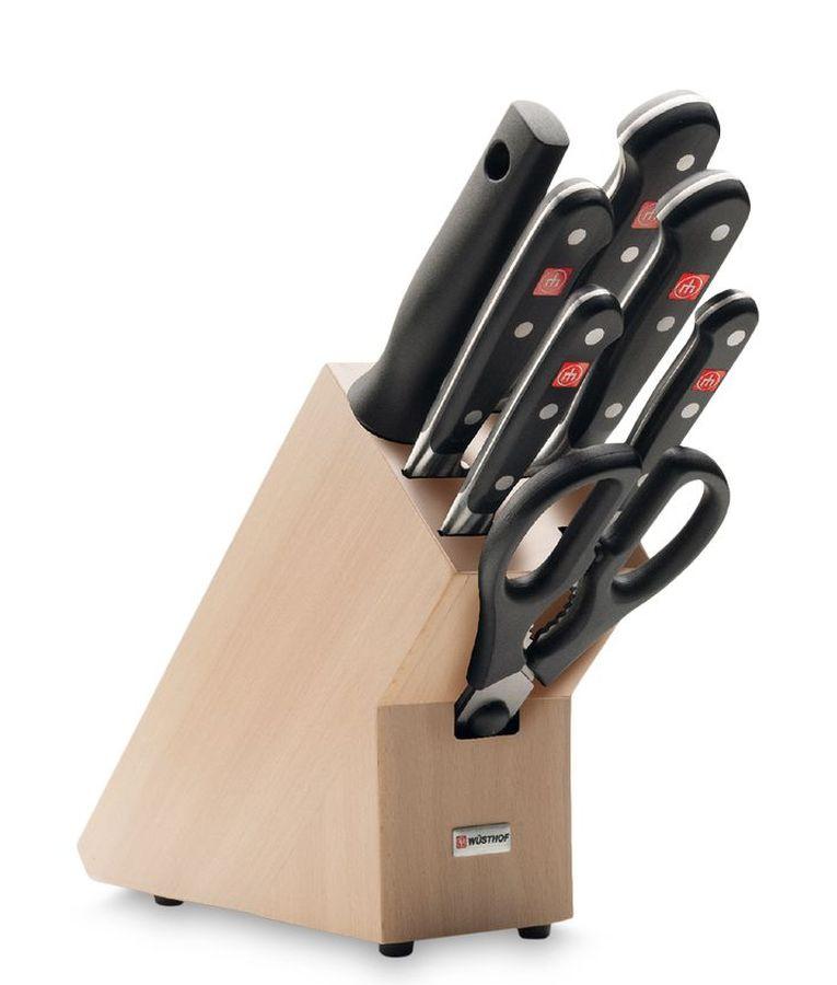 Набор ножей Wuesthof в подставке серия Classic, 9835-200 набор кухонных ножей wuesthof для чистки и нарезки овощей и фруктов 9314 3 2 шт