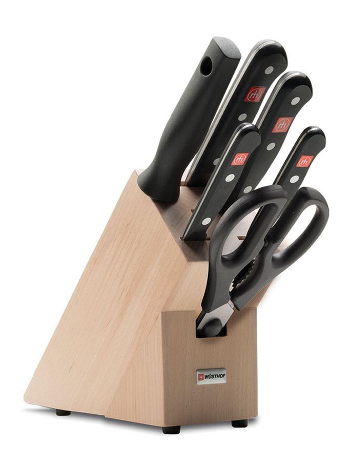 Набор ножей мусат Wuesthof на подставке серия Gourmet, 9867-2 набор кухонных ножей 3 шт 7941 clasica серия clasica