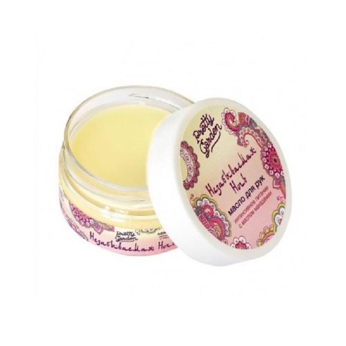 Масло для рук Pretty Garden Незабываемая ночь, 60 г00-00001929Интенсивное питание. С маслом макадамии. Масло ши поможет коже восстановиться. Масло макадамии обладает уникальными свойствами восстанавливать кожу, обладает омолаживающим и питательным свойствами, делая ее бархатистой и нежной. Экстракты лимона, плодов облепихи и цветов календулы обладают прекрасным заживляющим действием, быстро и эффективно устраняют воспаление, покраснение и шелушение, успокаивают кожу. Результат – кожа бархатистая и нежная. Нанесите масло на чистую влажную кожу массирующими движениями. Излишки масла промокните бумажной салфеткой. Подходит для массажа. Масло ши, масло макадамии, масло сладкого миндаля, экстракты лимона (цедра), облепихи (плоды), календулы (цветы), экстракт грецкого ореха, воск, парфюм.