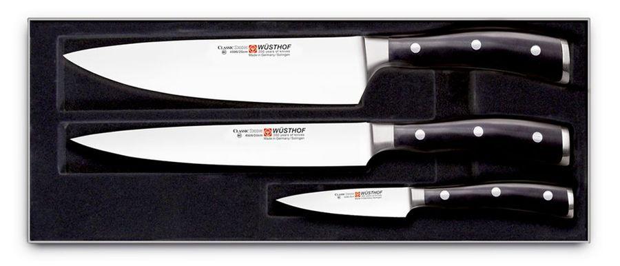Набор ножей Wuesthof серия Classic Ikon, 9601 WUS, 3 шт