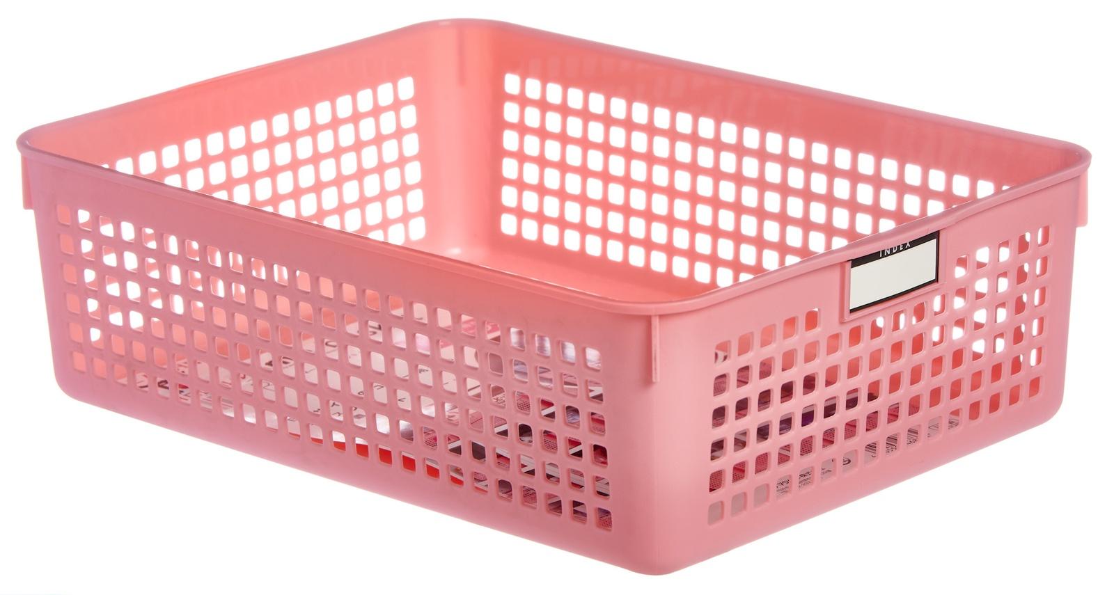 Корзина для хранения INOMATA, 4583P, розовый, 210х290х90 мм4583PКрасивая и стильная корзина для хранения вещей идеально впишется в интерьер любой квартиры, сэкономит место, добавит ярких акцентов в дизайн. Корзина подойдет для хранения журналов, детских игрушек, материалов для творчества и многого другого. Сделано в Японии.