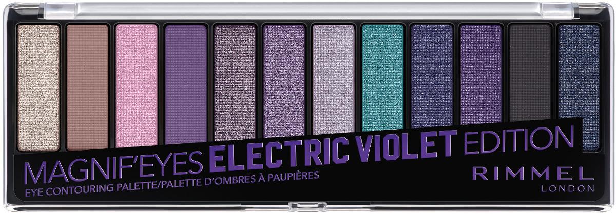 Палетка теней Rimmel Magnif Electric Violet, тон 008, 100 г аппликатор для теней 4 шт apieu для глаз