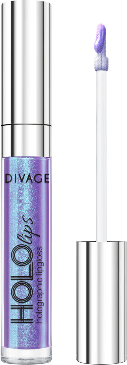 Блеск для губ Divage Lip Gloss Hololips, № 02 divage блеск для губ водостойкий waterproof lip gloss 5 мл 4 оттенка 2 5 мл