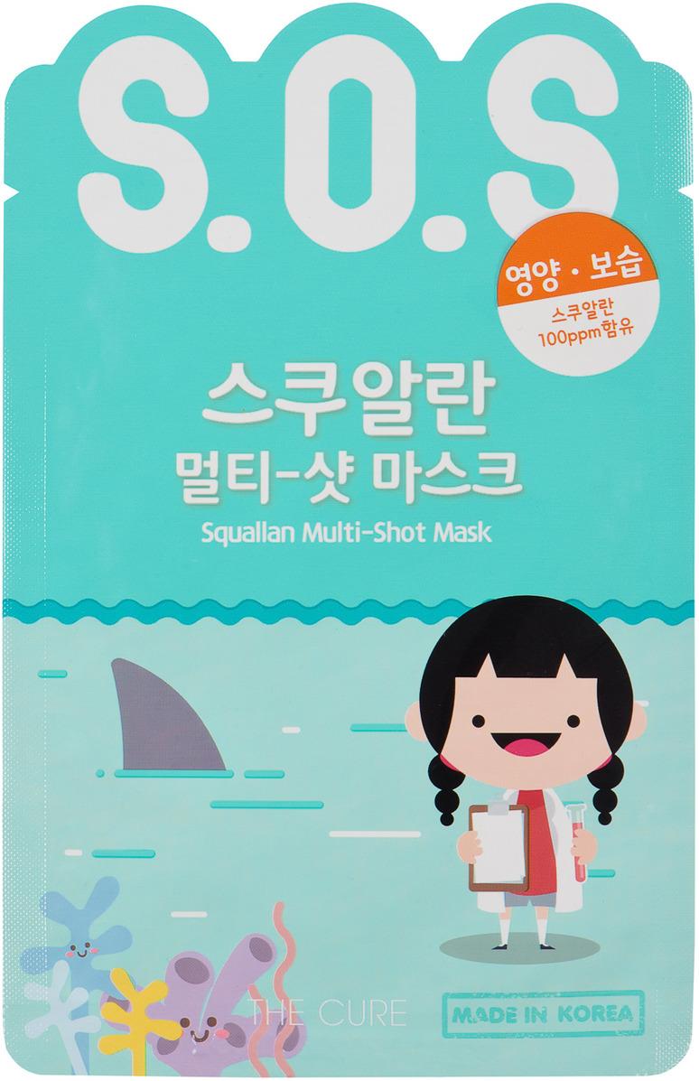 Маска косметическая Korea The Cure Sos, экспресс, для лица, с акульим жиром, 25 мл топикрем sos для лица цена