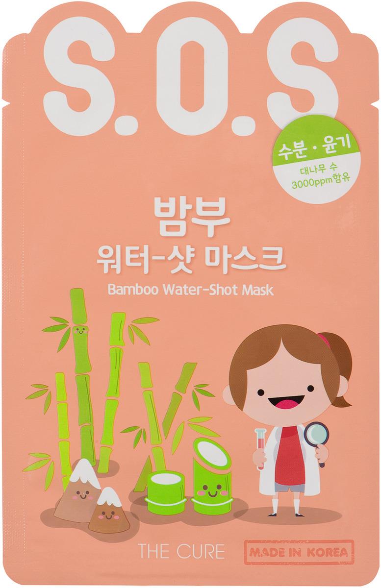 Маска косметическая Korea The Cure Sos, экспресс, для лица, с соком бамбука, 25 мл топикрем sos для лица цена