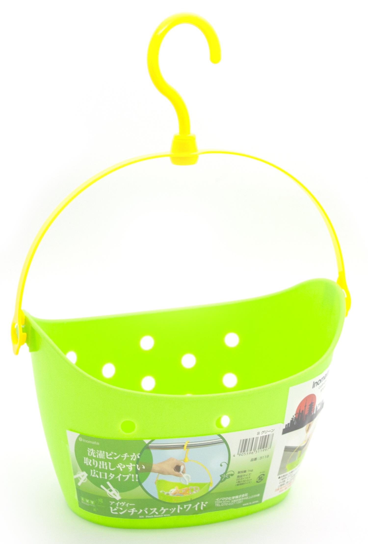 Корзина для хранения с крючком INOMATA, 3119SG, зеленый, 225*210*160 мм ольга кадникова вазочки конфетницы корзинки объемные изделия крючком