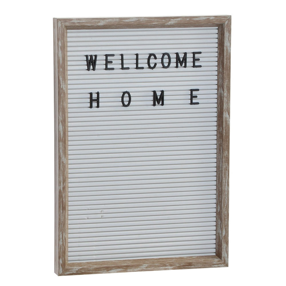 "Картина RICH LINE Home Decor ""WELLCOME"", RC-149422-белый, 22х2х31 см"