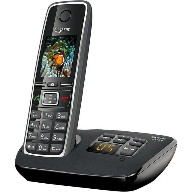 Радиотелефон с автоответчиком Gigaset C530 AM RUS BLACK, S30852-H2532-S301, черный