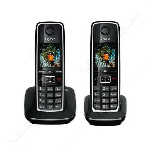 Радиотелефон Gigaset C530 DUO RUS BLACK, L36852-H2512-S301, черный