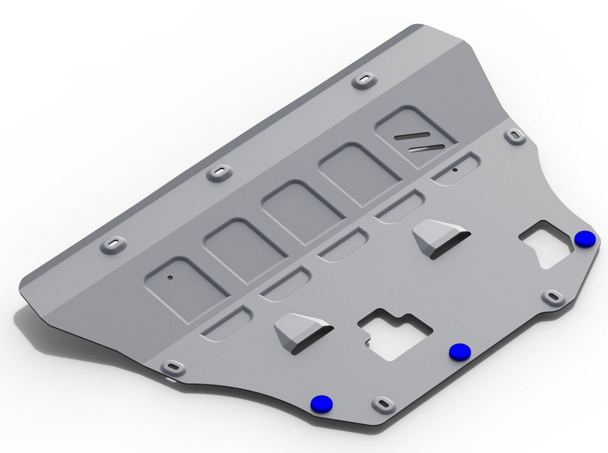 Защита картера и КПП Rival для Volvo S90 2016-н.в./V90 Cross Country 2017-н.в./XC60 2017-н.в./XC90 2015-н.в., алюминий 4 мм, с крепежом. 333.5912.1