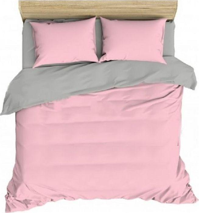 Комплект белья Василиса Розовый жемчуг, 1,5-спальный, наволочки 70x70, цвет: розовый. 372/1 комплект белья василиса мятная дымка 1 5 спальный наволочки 70x70 цвет зеленый розовый 363