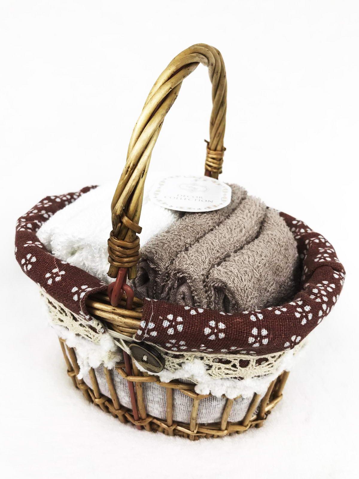 """Набор салфеток Sofi de Marko Виола, Наб-В3, кофе, 6штНвб-В3-кДекоративные салфетки из 100% хлопка представлены в нежных """"пудренных"""" цветовых решениях, прекрасно впитывают влагу и придают ощущение нежности. Салфетки упакованы в декоративную коробку из натурального дерева, которая будет одинаково хорошо смотреться как на кухне, так и в ванной комнате. Размер салфетки: 30х30 (6шт);"""