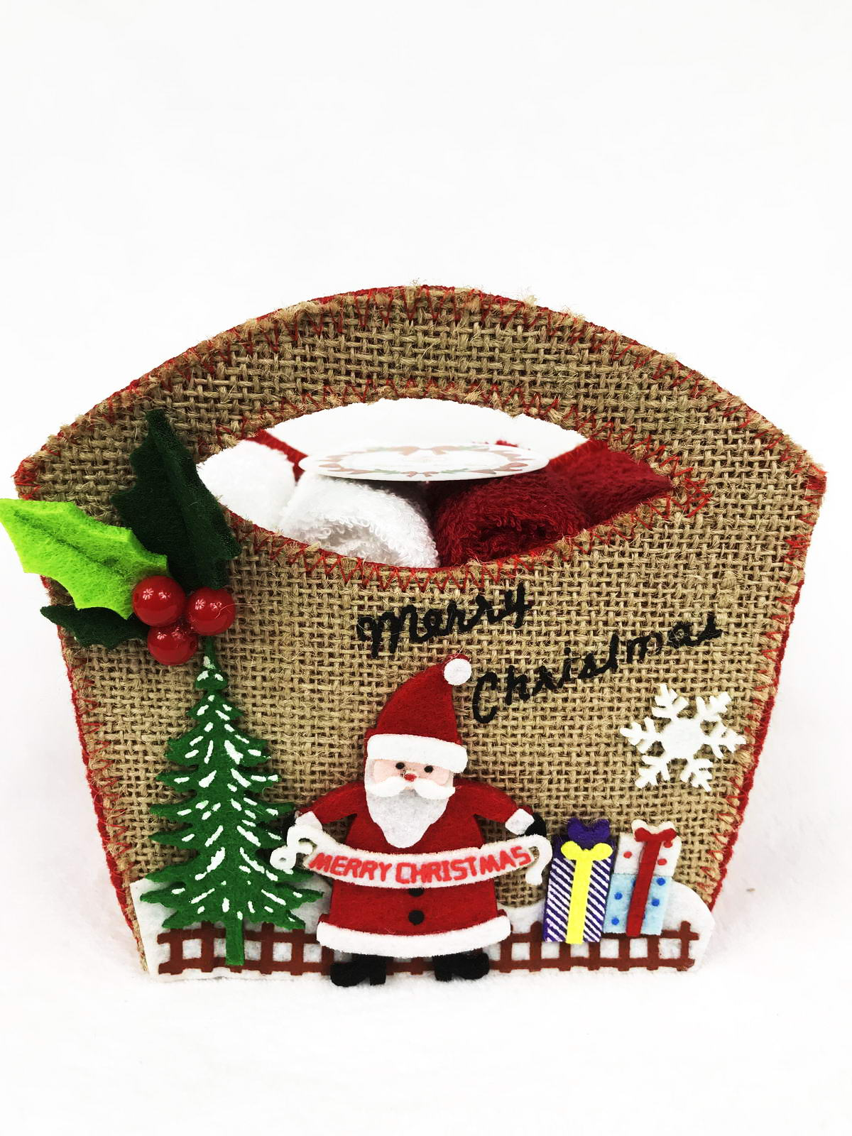 цена на Набор новогодних салфеток Санта Клаус 30х30 (4шт)
