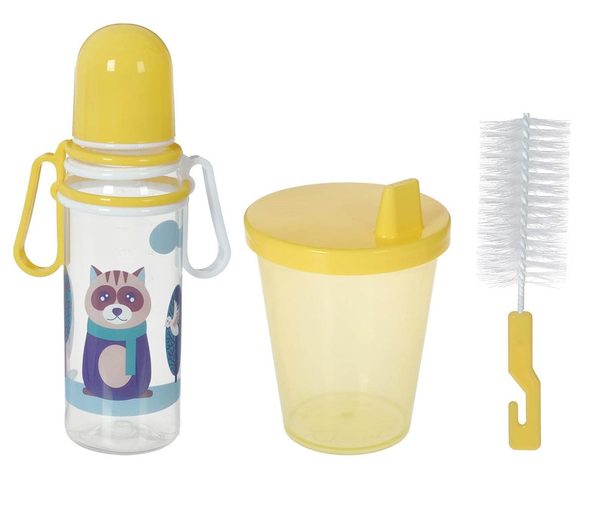 Набор бутылочек для кормления Крошка Я, 2849351, 3 предмета lubby набор посуды для кормления 3 предмета цвет оранжевый