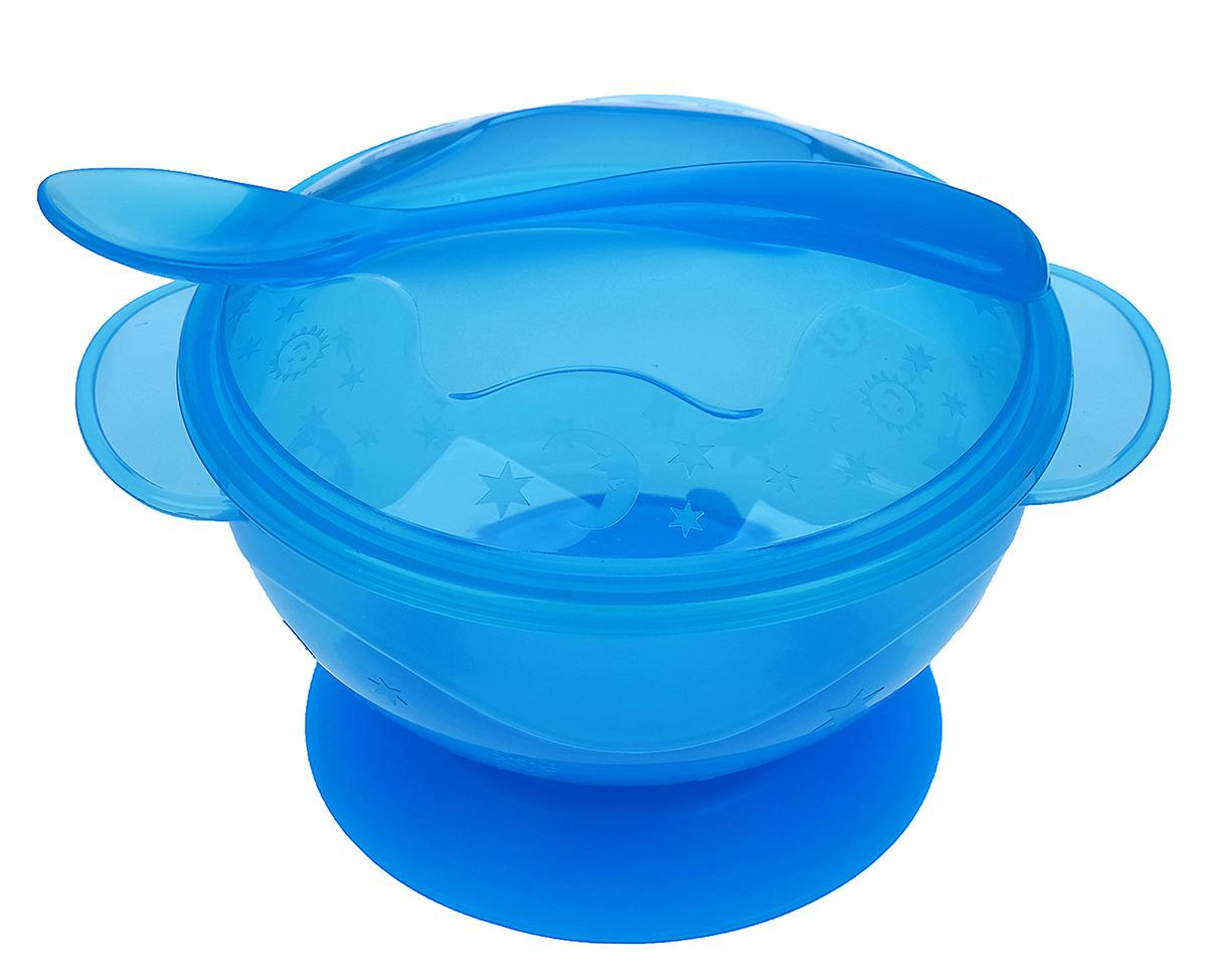 Набор посуды для кормления Крошка Я, 3278989, голубой, 2 предмета набор для кормления крошка я первый подарок малышу 2849357 7 предметов