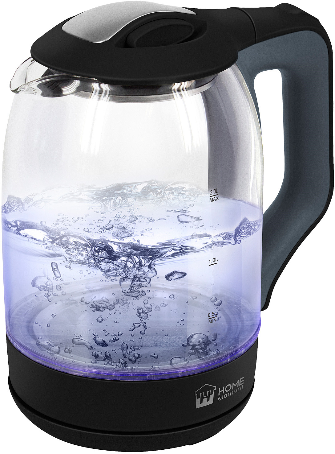 Электрический чайник Home Element HE-KT190, серый мрамор чайник home element he kt190 темный нефрит