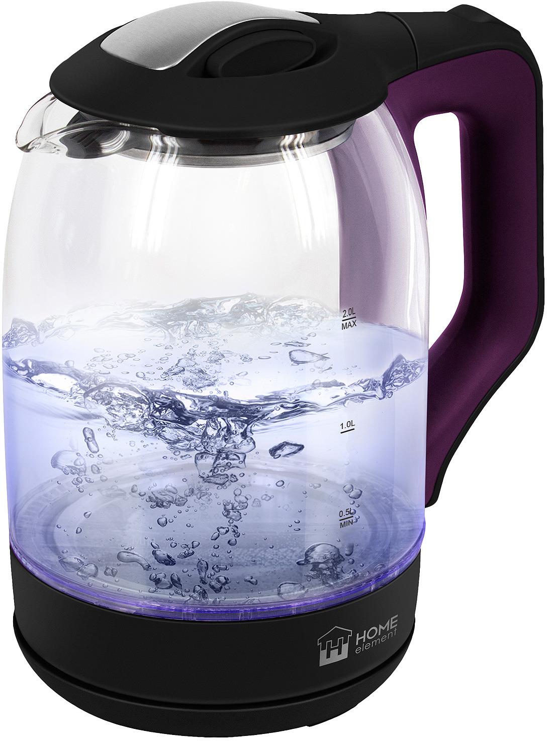 купить Электрический чайник Home Element HE-KT190, фиолетовый чароит недорого