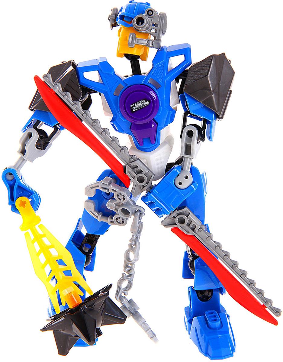 Робот-конструктор Heroes & Monsters Герой Legion, 882943882943Конструкторы остаются одной из любимейших игрушек детей во все времена не зависимо от возраста, пола, творческих способностей. Ведь это так увлекательно создавать целостные фигуры, сюжеты из отдельных деталей.Конструкторы развивают:Пространственное мышление - ребенок познает пространственные соотношения элементов: право, лево, выше, ниже.Конструктивные способности - осознание, каким образом создаются различные объекты.Образное мышление: стиль мышления, который отвечает за создание определенного образа, создающегося в представлении ребенка.Мелкую моторику, глазомер: работая с конструктором, ребенок, развивает мелкие мышцы руки, учится соизмерять мышечное усилие, тренирует глаз.Творческие способности и воображение.Робот-конструктор «Герой Legion», 39 деталей непременно понравится вашему малышу! После сборки всех деталей он получит гибкого и функционального робота, с которым будет играть, и строить сюжеты своих игр. Ребенок может проявить фантазию и из нескольких воинов собрать одного супергероя. Воины сконструированы так, что все части у них отдельные и на шарнирах, что позволяет с легкостью придумать и собрать свои виды героев и монстров.