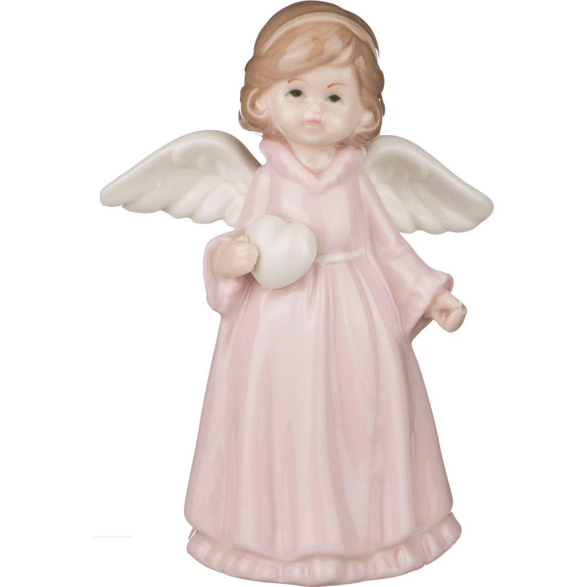 Фигурка Lefard Девочка-Ангелочек LF-146/393, розовый, белый, 9 х 6 х 13 см цена