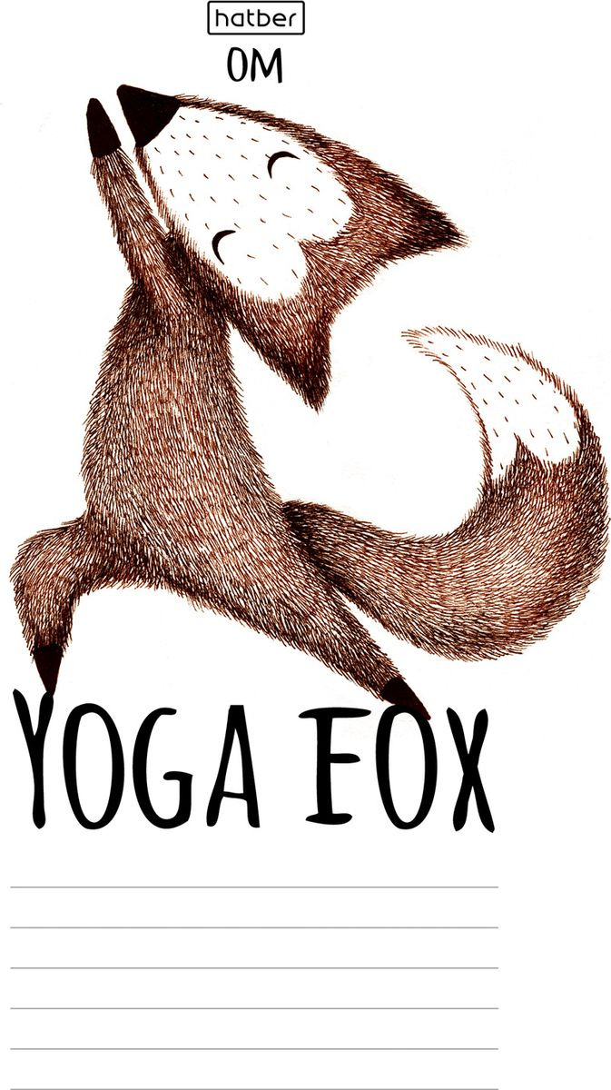 Набор тетрадей Hatber Yoga Fox, 18Т5В2_19148, разноцветный, A5, 18 листов в линейку, 20 шт jan zimmerman social media marketing all in one for dummies