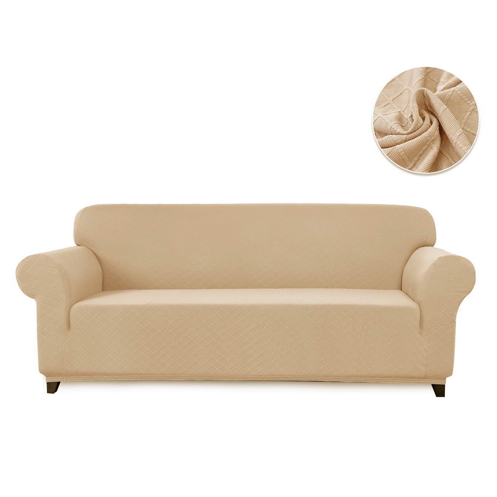 Чехол на 2-х местный диван Sofi de Marko Илиана, Див-1м-р2, молочный диван 2 х местный secret de maison бронко bronco 1193 2 х местный из натуральной кожи доступные цвета античный тёмный