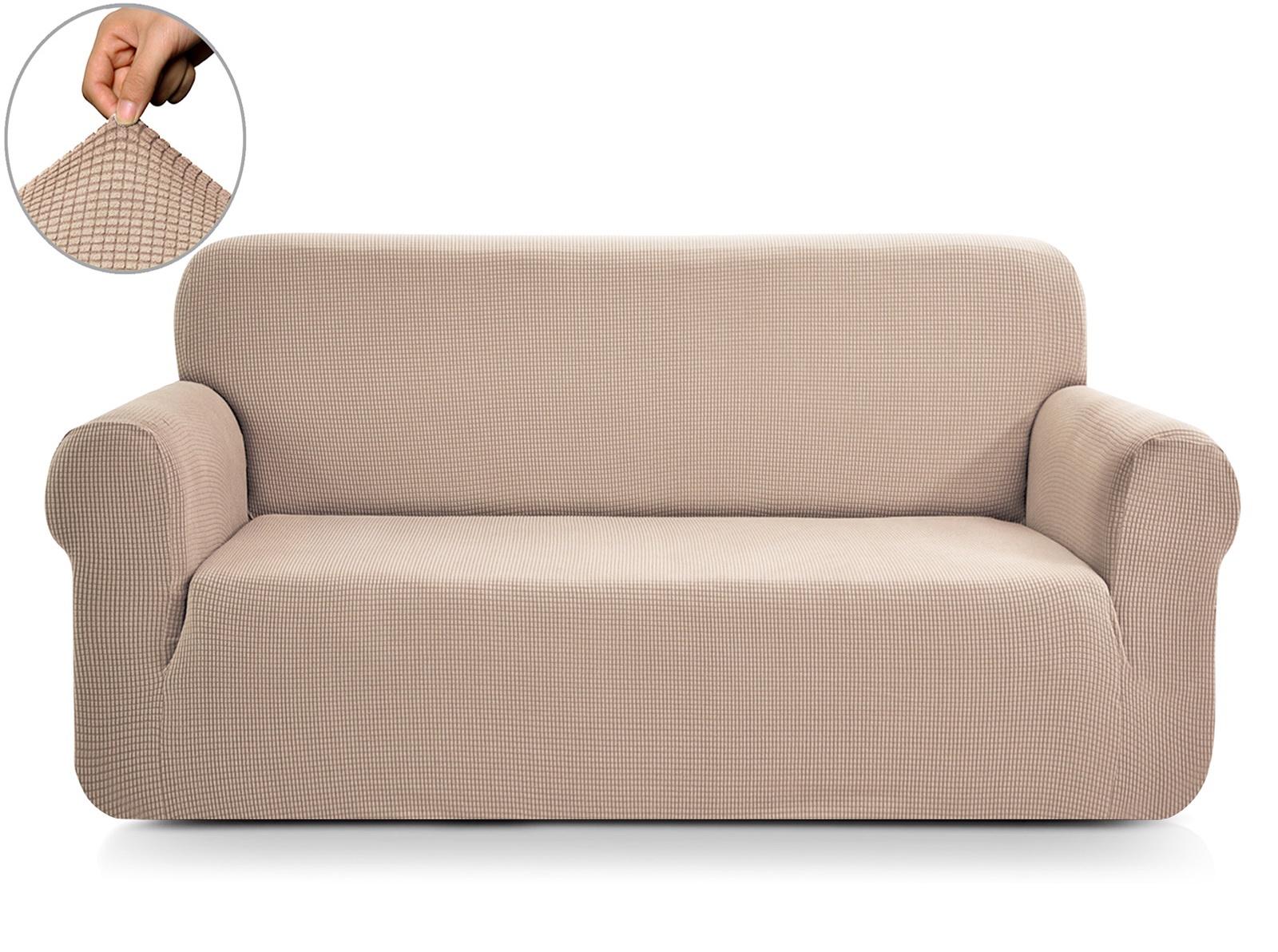 Чехол на 2-х местный диван Sofi de Marko Моника, Див-4б-р2, бежевый диван 2 х местный secret de maison бронко bronco 1193 2 х местный из натуральной кожи доступные цвета античный тёмный