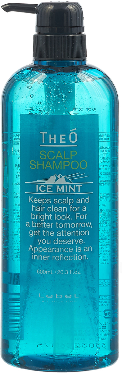 Шампунь для волос Lebel Theo Scalp Ice Mint, 600 мл эмульсия alterna lengthening hair and scalp elixir 50 мл