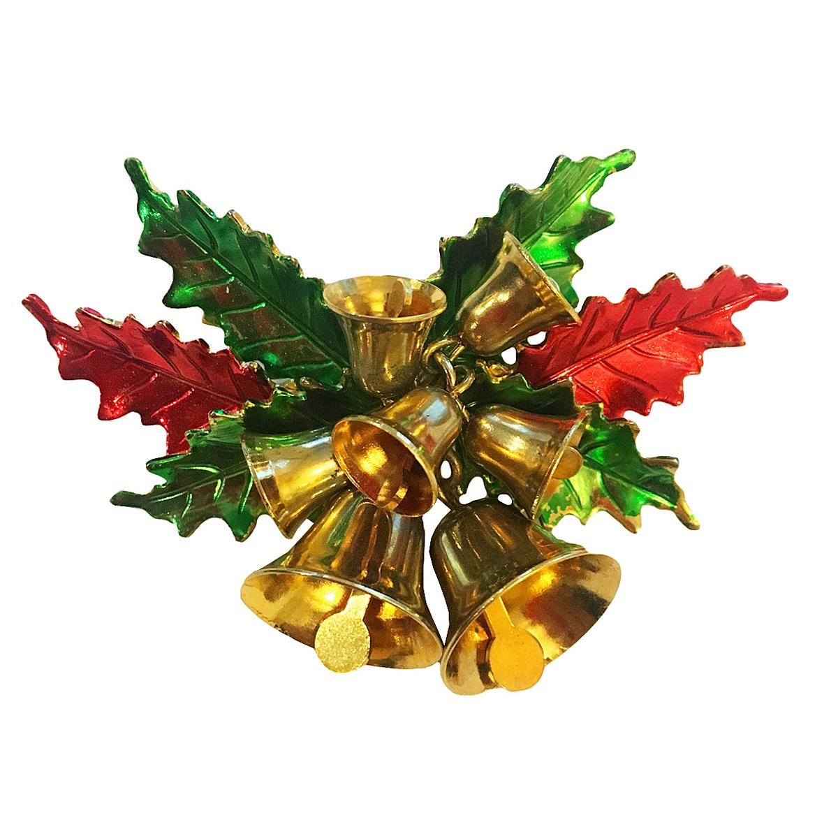 Брошь Винтажная Рождество от компании St.Labre. Ювелирный сплав золотого тона, эмаль, 1970-е годы винтажная брошь ювелирный сплав золотого тона хрустальные стразы сша 1980 е годы