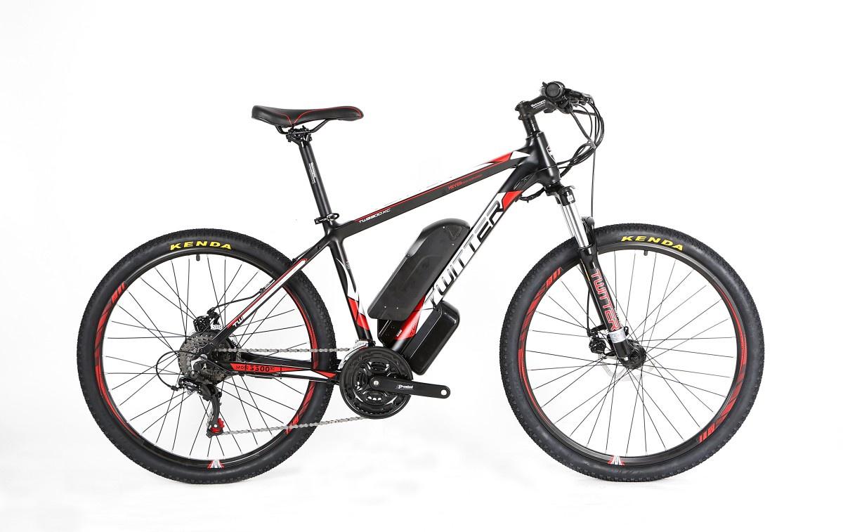 Электровелосипед Twitter VS7.0-ER100-17, черный, желтый кассета bike attitude c668au 8 скоростей