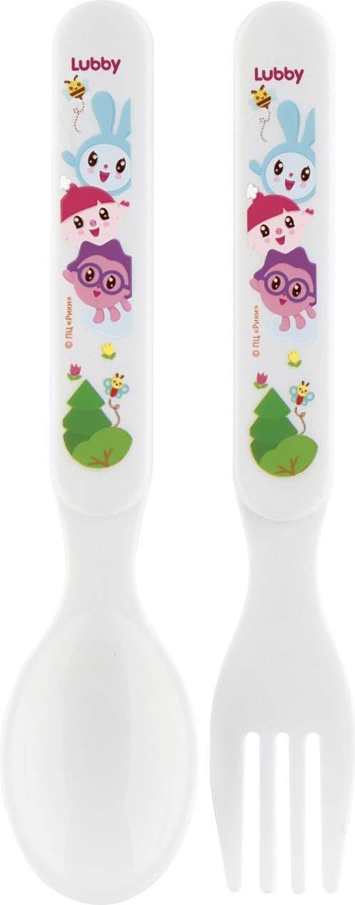 Набор детских столовых приборов Lubby Малышарики, 20913