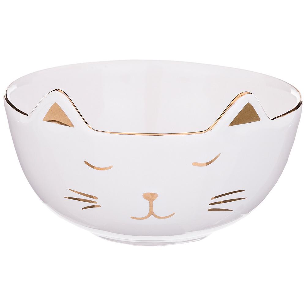 """Салатник """" Белый кот"""" 11,3*11,3*6,8см"""