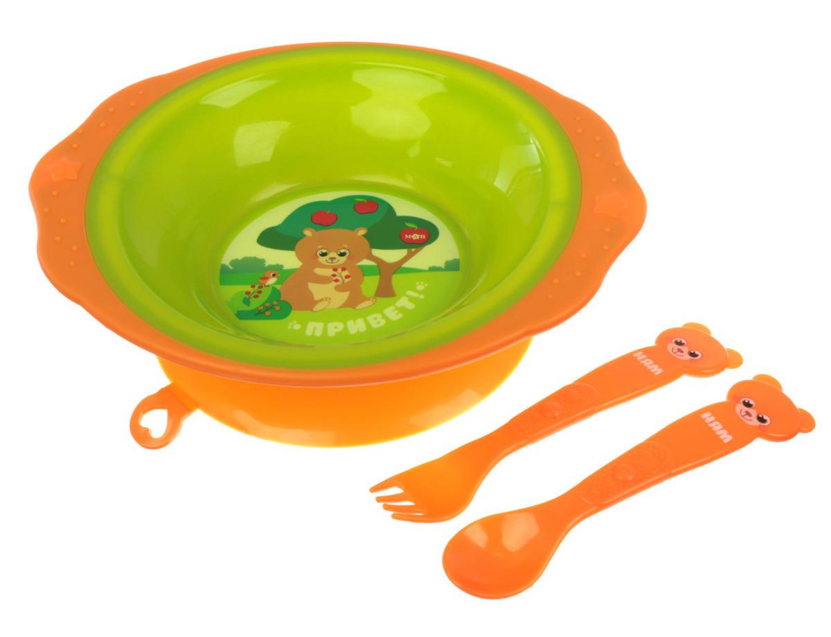 """Набор посуды для кормления Mum&Baby """"Лесные друзья"""", 2618917, 3 предмета"""