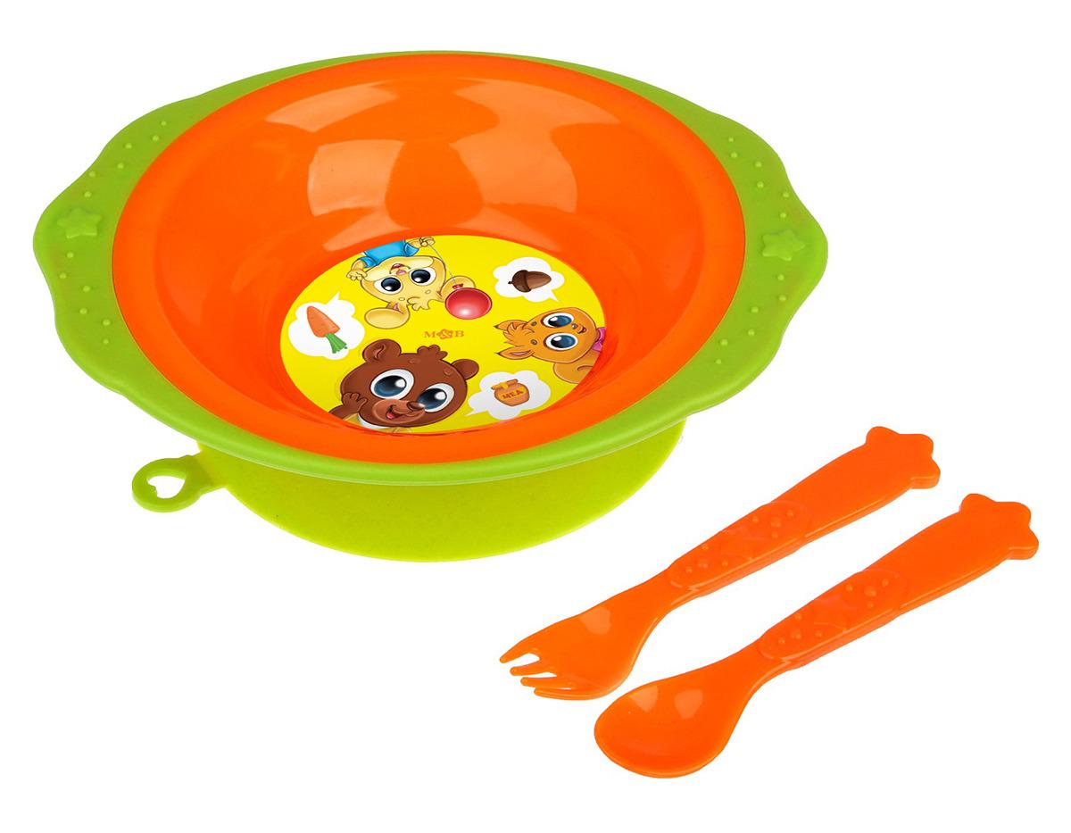 Набор посуды для кормления Mum&Baby Малыши, 2618923, 3 предмета2618923С набором детской посуды малыш будет кушать с удовольствием! Необычный дизайн повысит интерес к кормлению у ребенка и вызовет умиление у его родителей.