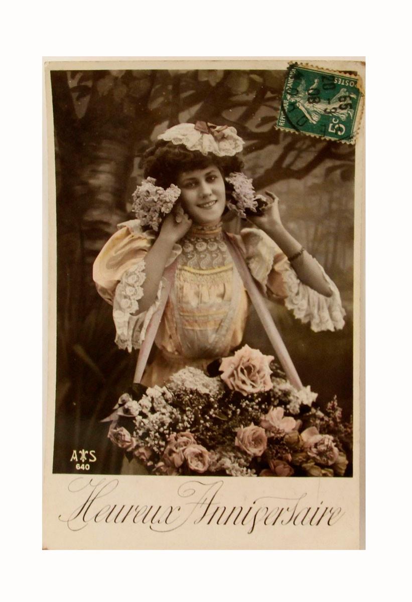 Открытка коллекционная винтажная, ОС33472 почтовая открытка колоризированное изображение франция начало xx века