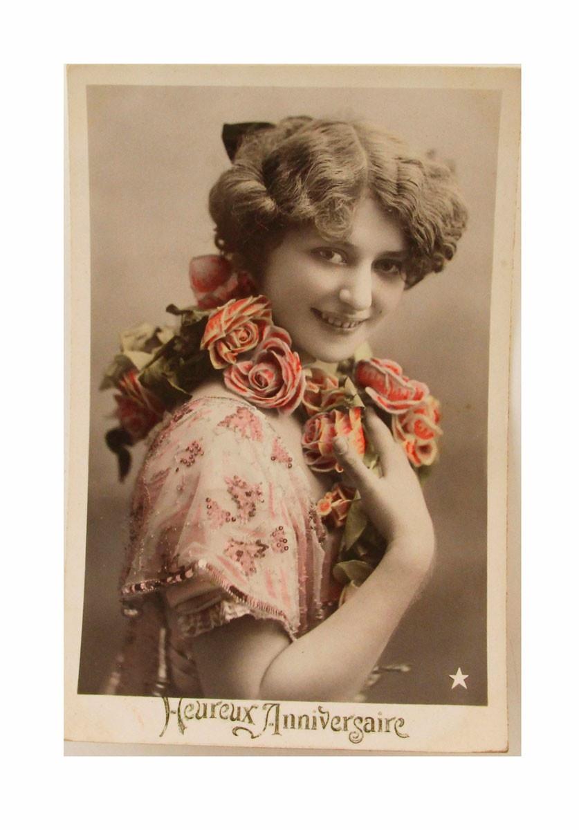 Открытка коллекционная винтажная, ОС33473 почтовая открытка колоризированное изображение франция начало xx века